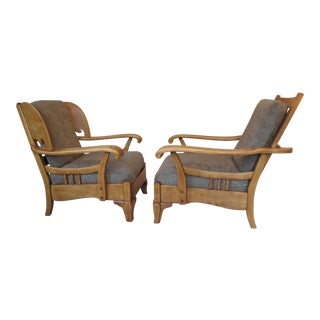 Harden Vintage Paddle Arm Lodge Chairs - A Pair