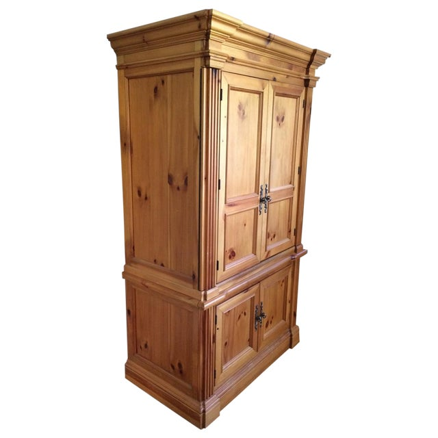 Solid wood armoire chairish