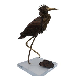 Barri R. Chevalier Brutalist Bird Sculpture