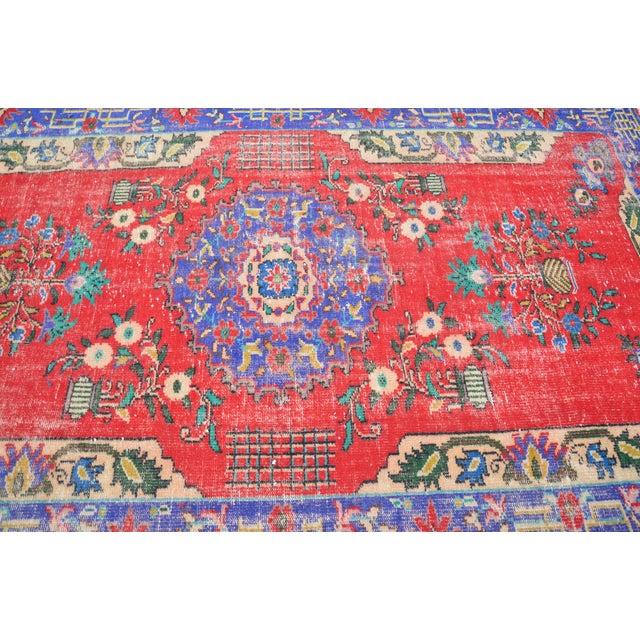 Turkish Oushak Floor Rug - 6′2″ × 9′11″ - Image 6 of 6