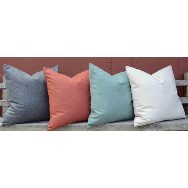 Italian Orange Sustainable Wool Pillow - Image 2 of 6