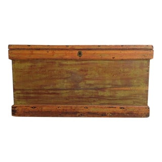 Vintage Carved Wood Chest