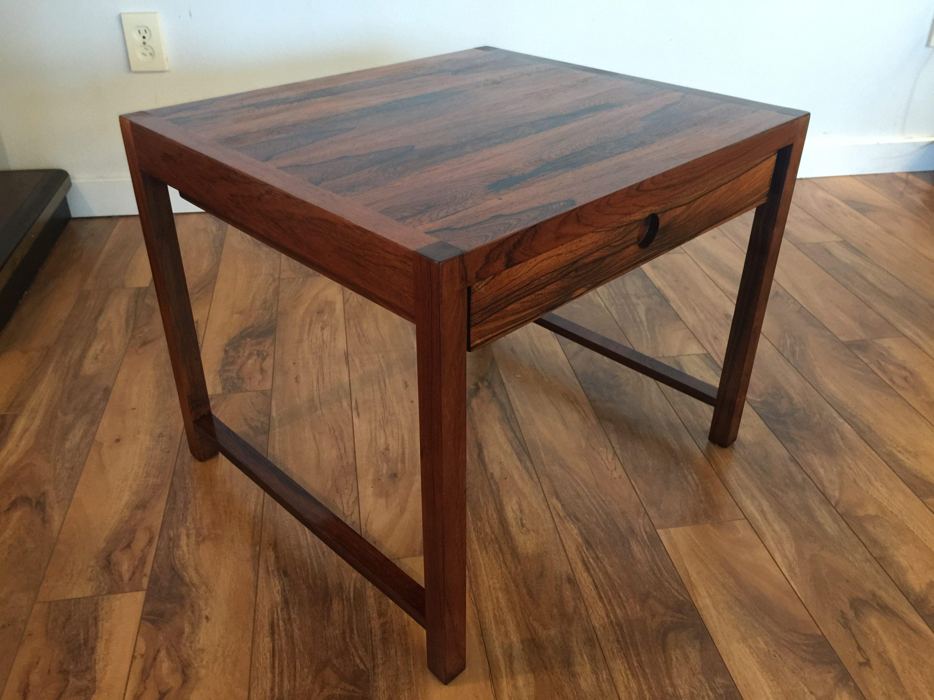 Charming Brode Blindheim Rosewood End Table   Image 3 Of 9