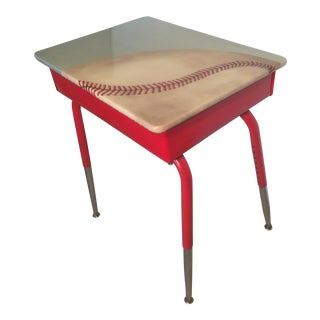 Vintage Hand Painted Baseball Desk
