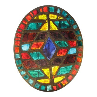 French Mid-Century Stained-Glass Window #1
