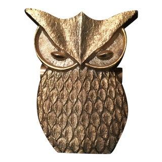 Vintage Brass Owl Paperclip