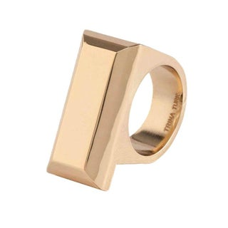 Trina Turk Rectangular Copper RIng Size 6