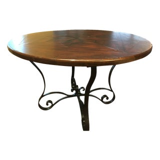 Theodore Alexander Antiqued Wood Breakfast Table