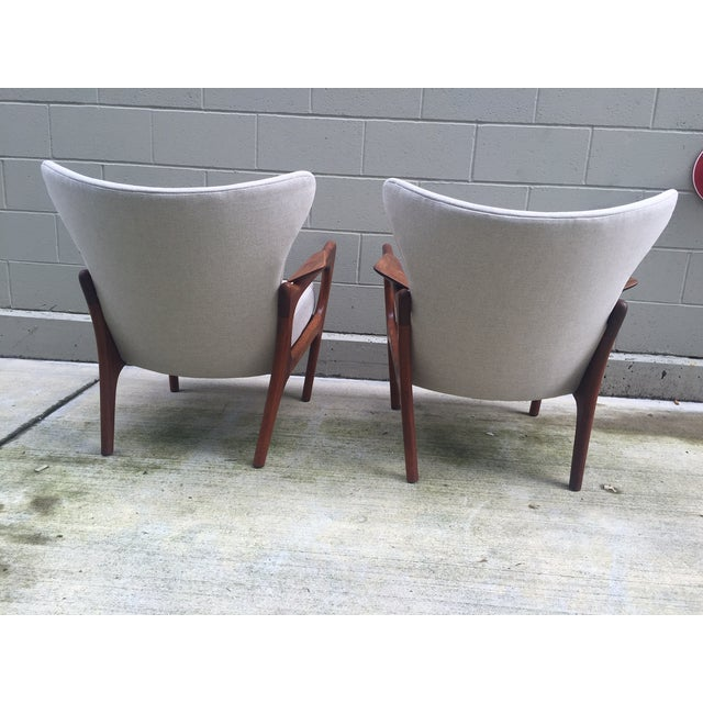 Adrian Pearsall Sculptural Lounge Chairs - Pair - Image 5 of 8