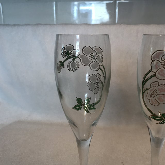 Perrier Jouet Champagne Flutes- A Pair - Image 8 of 10