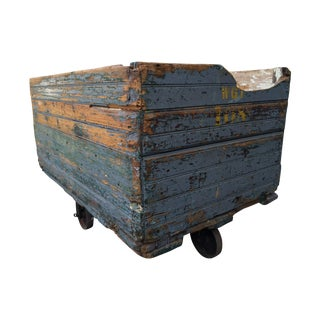 Industrial Wooden Factory Cart