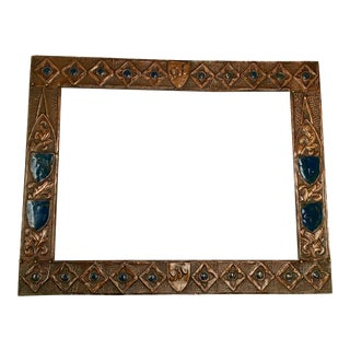 Dated '1935-1936' Folk Art Copper Frame