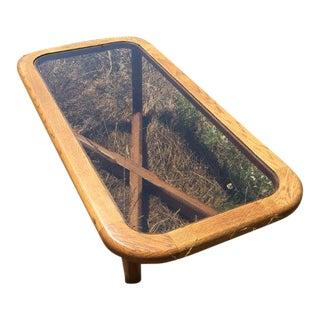 Smoked Glass & Oak Coffee Table
