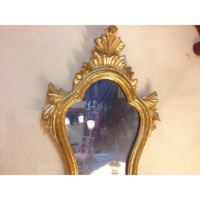 Baroque Style Escutcheon Form Gilt Mirror - Image 3 of 4