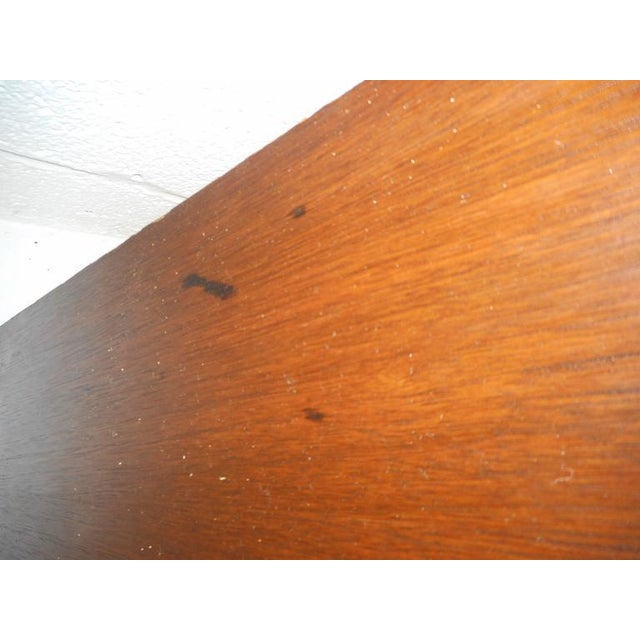 Mid-Century Modern Queen Size Bookshelf Headboard and Footboard - Image 8 of 9