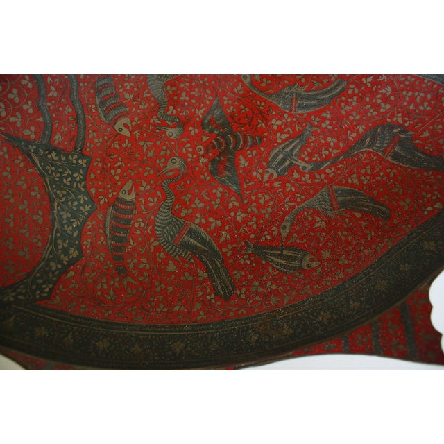 Image of Large Etched Red Fish Platter