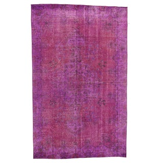 "Magenta Floral Turkish Rug - 5' 9"" x 9' 2"""