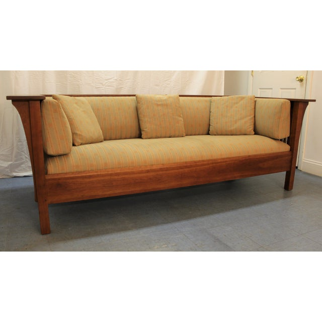 Arts And Crafts Style Leather Sofa