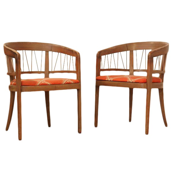 Edward Wormley 1940s Drexel Side Chairs – Pair - Image 1 of 6