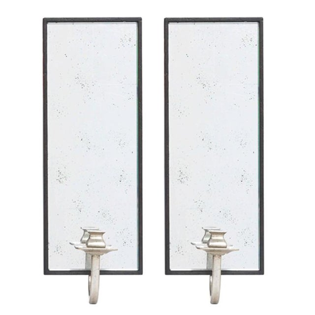 Art Deco Candleholder Wall Sconces - Pair - Image 1 of 2