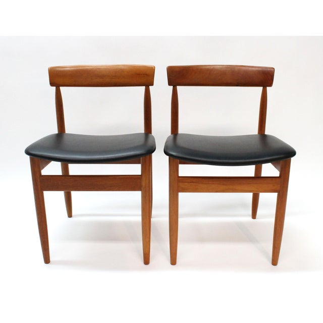 1977 Mid-Century Danish Style Teak Chairs - A Pair - Image 2 of 6