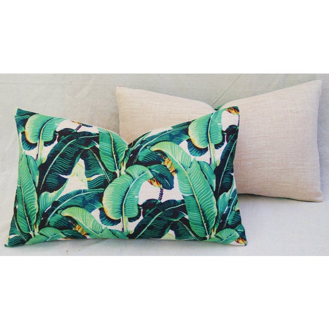 Dorothy Draper-Style Banana Leaf Pillows - A Pair - Image 10 of 11