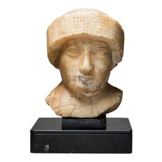 Neo-sumerian Alabaster Bust of Gudea