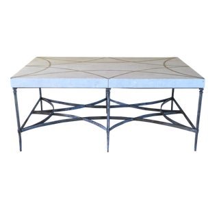 Faux Stone and Metal Coffee Table