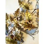 Image of 1976 Vintage Curtis Jere Mid-Century Modern Signed Brass & Copper Leaf Wall Sculpture