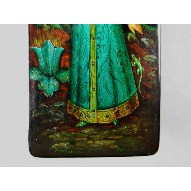 Russian Hand Painted Lacquer Box - Image 5 of 7