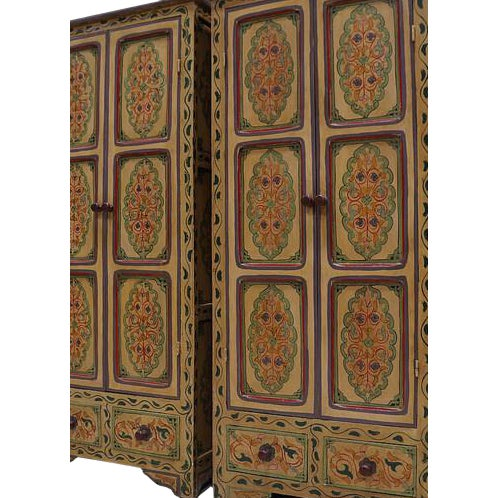 Bohemian Hand Painted Linen Chests - A Pair - Image 2 of 4