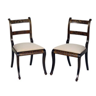 19th Century Painted Side Chairs - A Pair