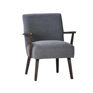 Mid-Century Style Dark Wood Arm Chair