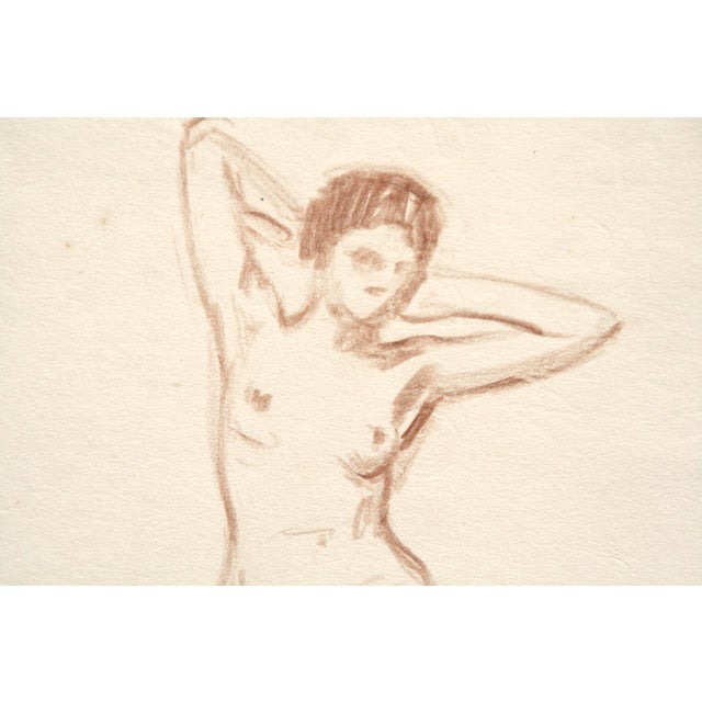Charcoal Nude Drawing by Joseph Mason Reeves Jr. - Image 3 of 4