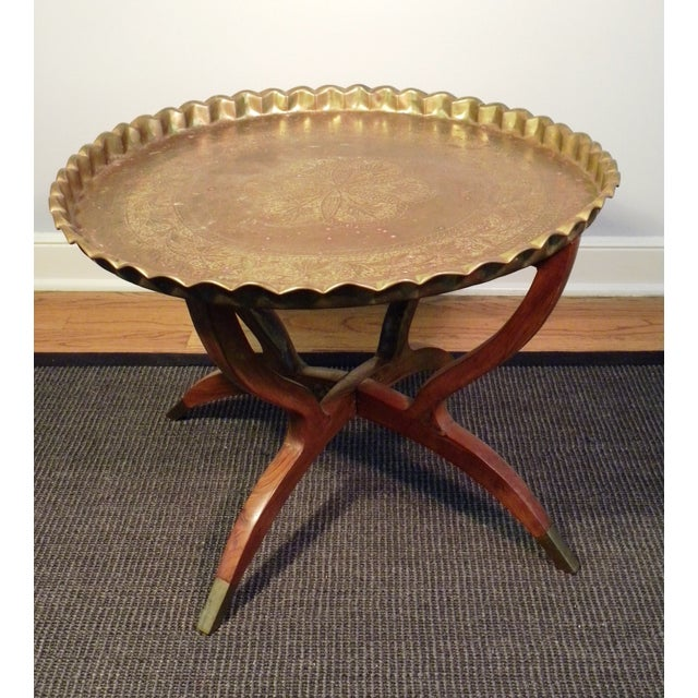 Mid Century Modern Moroccan Folding Tea Table - Image 2 of 8