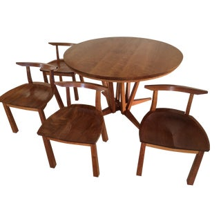 Thomas Moser Edo Table With 4 Dining Chairs