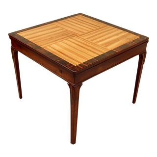 Swedish Art Deco Extendible Side Table by Erik Chambert, circa 1930