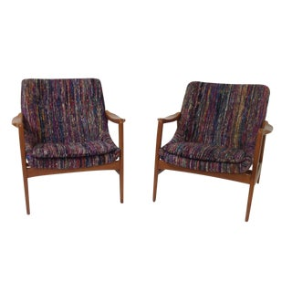 Mid-Century Style Lounge Chairs - A Pair