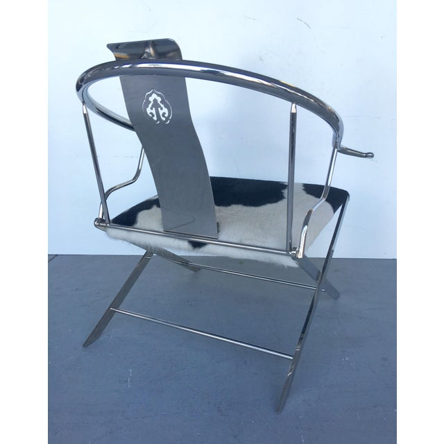 Stainless Steel Modernist Lounge Chair - Image 7 of 7