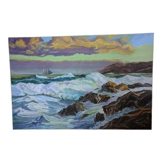 Signed Original Seascape Painting