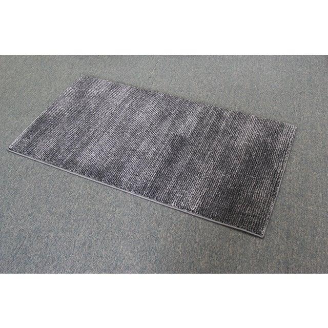 Black & Gray Stripe Rug - 3′ × 5′ - Image 4 of 5