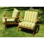 Image of Vintage Mid Century Lounge Chairs - A Pair