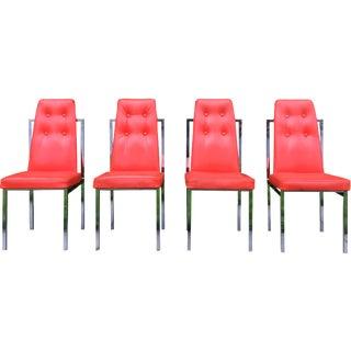 Vintage Chromecraft Chrome Chairs - Set of 4