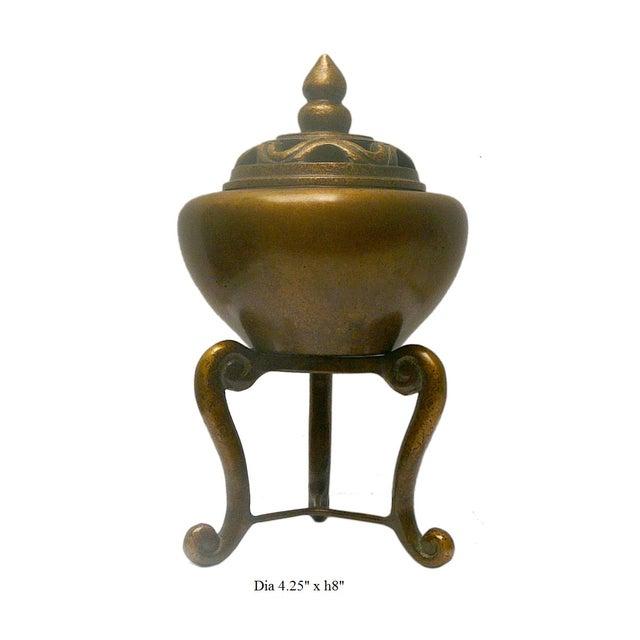 Oriental Chinese Handmade Fine Bronze Incense Burn - Image 4 of 4