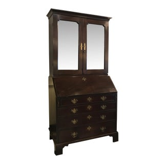 Charles III English Mahogany Secretary Desk