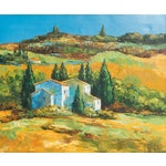 Image of M. Vanly Tuscan Summer Landscape Oil Painting
