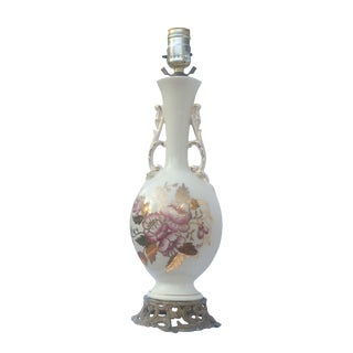 Ivory Lamp With Pink & Gold Accents