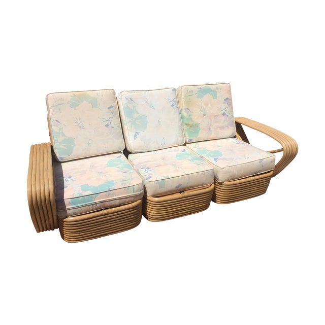 Paul Frankl Sofa ~ Paul frankl design vintage rattan sofa chairish