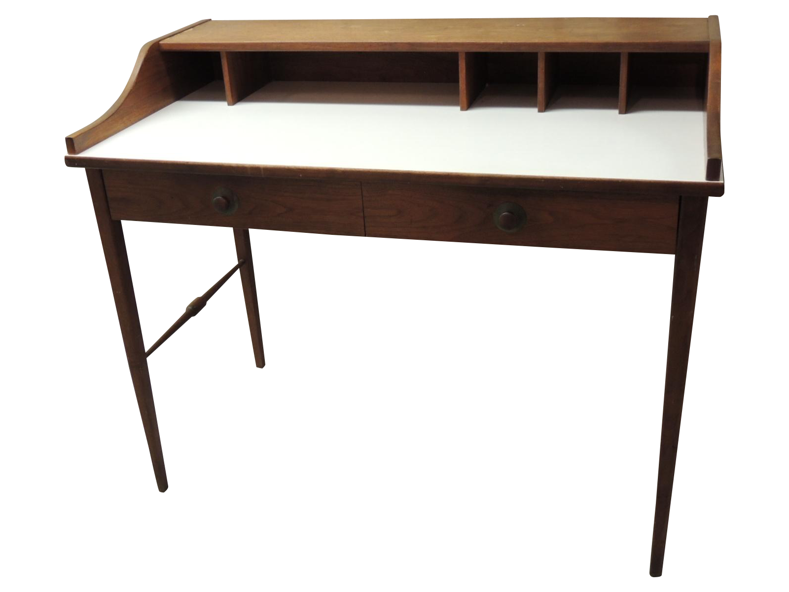 Vintage Mid Century Modern Wood Desk Chairish