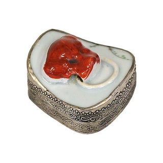 Silver Banded Foo Dog Pill Box